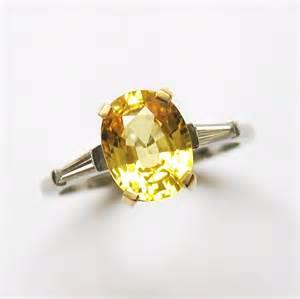 Single stone yellow sapphire ring bentley amp skinner