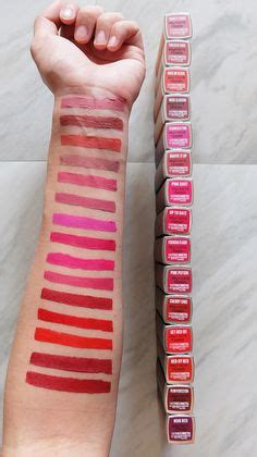Gincu Maybelline swatches of the new maybelline matte brown