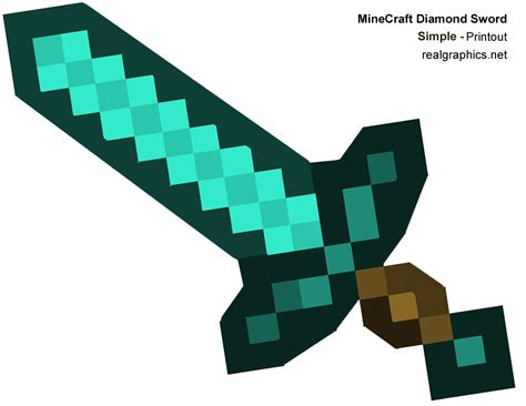 minecraft sword template minecraft sword template www pixshark images