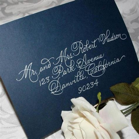 navy blue and gold wedding placecards calligraphy font 17 ideas about envelope addressing on pinterest hand