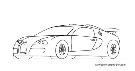 sports car drawing how to draw a sports car bugatti veyron junior car designer