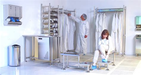 Swing Room Factory by Cleanroom Gowning Room Zinter Handling Inc