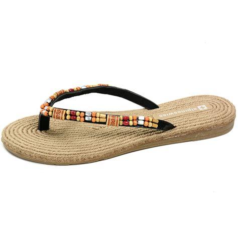 sandals wood alpine swiss s bohemian sandals wood bead thongs