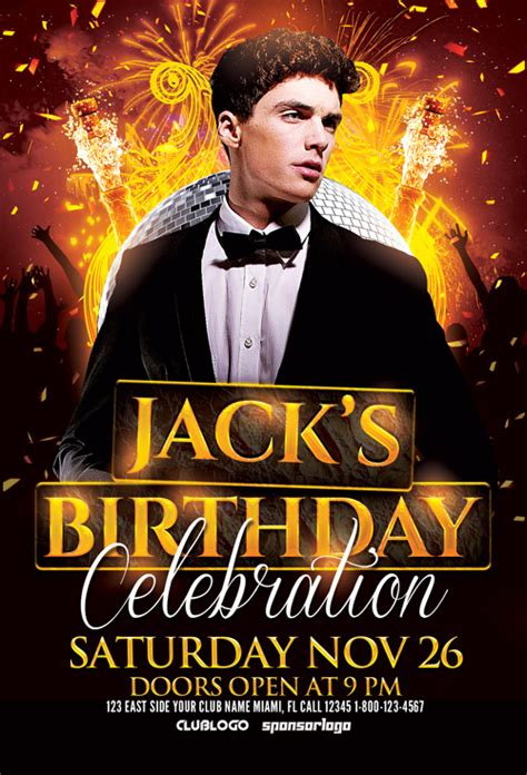 Birthday Celebration Flyer Template For Photoshop Awesomeflyer Com Birthday Flyer Template