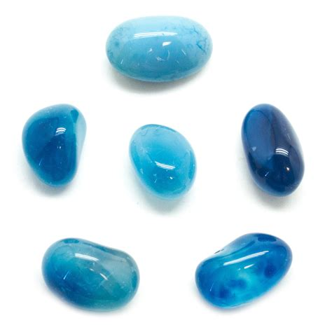blue onyx blue onyx tumbled set small vaults