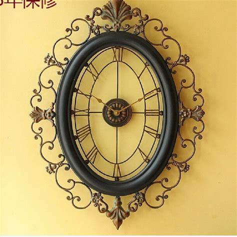 wrought iron wall clock wanduhr home decor modern design