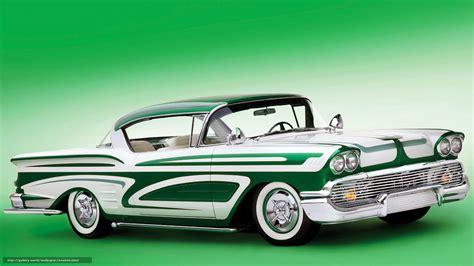 Classic Car Wallpaper 1600 X 900 Resolution by Wallpaper Chevrolet Impala Green Car Classic