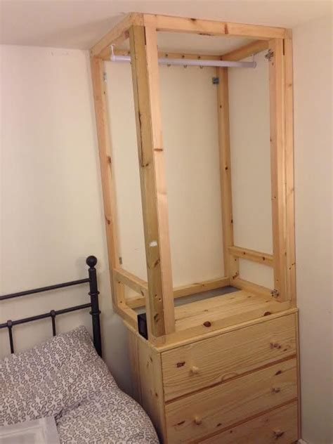 ikea wardrobe with drawers custom built ins using ikea tarva chest of 3 drawers into