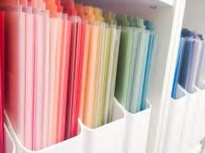 Organizing Craft Paper - craftroom organization paper organization