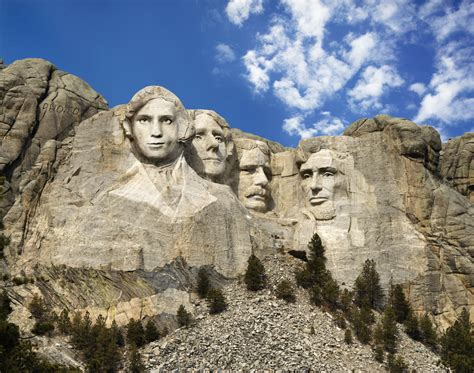 mount rushmore south dakota make your own mount rushmore online with face in hole effect