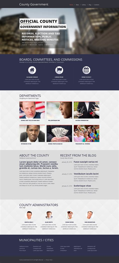 drupal themes government government responsive website template 48697