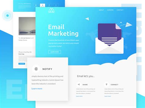 20 Free Email Newsletter Templates For 2018 Dribbble Graphics Email Marketing Templates 2018