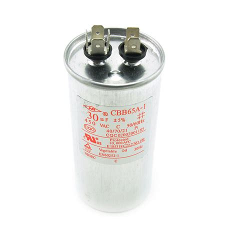 air conditioning compressor capacitor ac 450v 30uf cbb65a 1 air conditioner motor start compressor run capacitor ebay