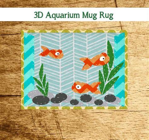 free mug rug patterns free quilt pattern 3d aquarium mug rug