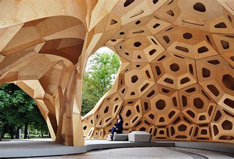 Pavillon Uni Stuttgart by Icd Itke Research Pavilion 2011 Institute For