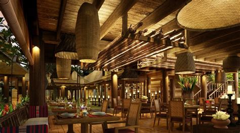 design house restaurant southeast asian wood restaurant interior design rendering