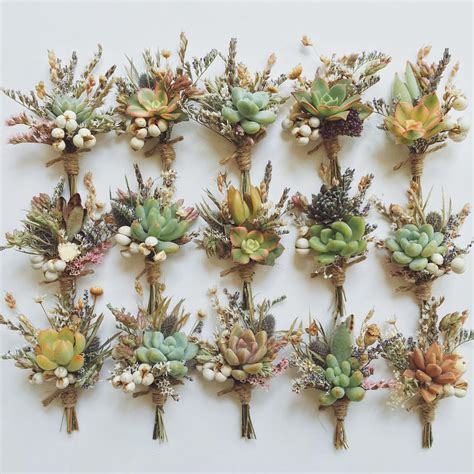 Wedding Bouquet Herbs by Today S Boutonnieres Of Succulents Dried