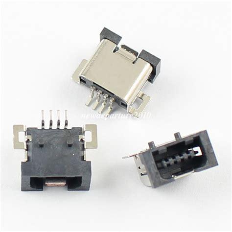 Socket 4 Pin Usb by 10pcs Mini Usb 4 Pin Smt Smd Pcb Socket Connector Diy