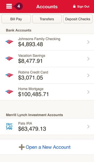 how to transfer mobile balance to bank account bank of america mobile banking on the app store
