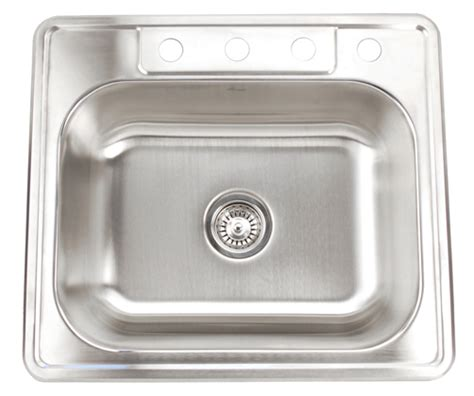 25x22 drop in sink fontaine 4 stainless steel drop in kitchen sink