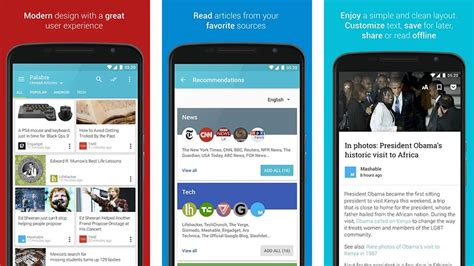 newspaper layout app 10 best rss reader apps for android android authority