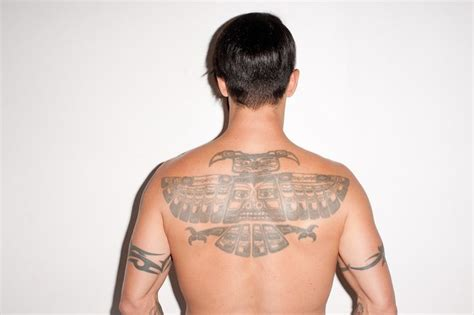 Tattoo Anthony Kiedis Back | totem poll style phoenix on anthony kiedis back tattoos
