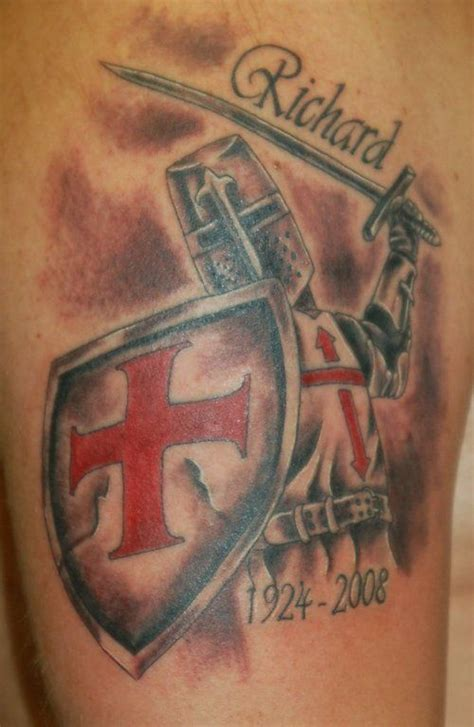 crusaders cross tattoo the 31 best warrior crusader with swords tattoos