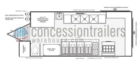 concession stand floor plans mobile kitchens for sale concession nation
