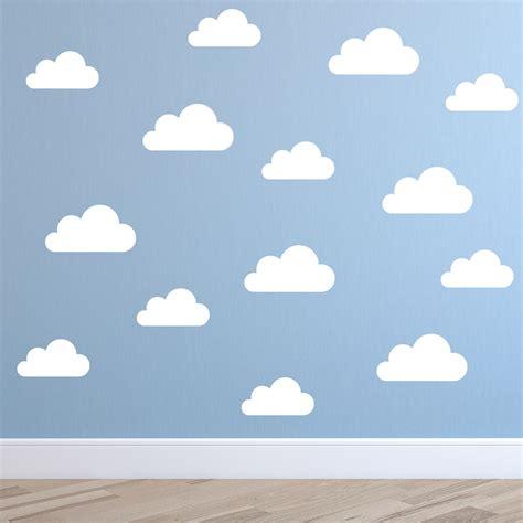 cloud pattern vinyl zn c069 set of 32 cute clouds pattern removable diy wall