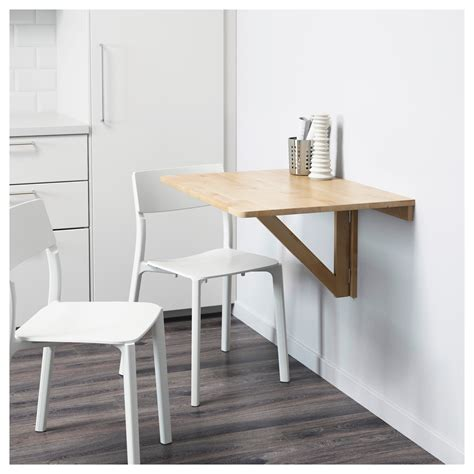ikea wall norbo wall mounted drop leaf table birch 79x59 cm ikea