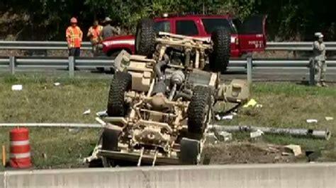 military vehicle car crash on ny highway killing soldier