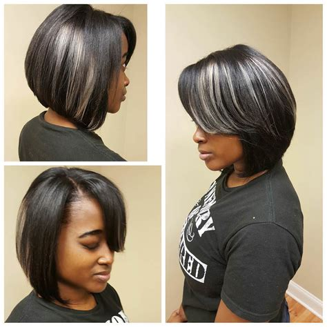 weave with grey highlights 24 stacked bob haircut ideas designs hairstyles