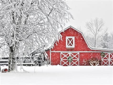 Scandinavian Country Kitchen - red and white scandinavian christmas town amp country living