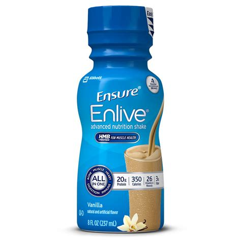 protein 20 grams ensure enlive advanced nutrition shake with 20