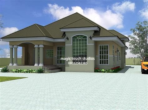 5 Bedroom Bungalow House Plans by 5 Bedroom Bungalow Modern And Contemporary