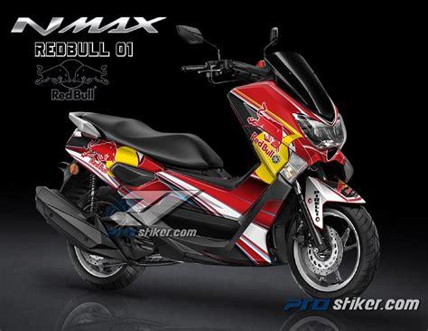 desain grafis stiker motor stiker motor yamaha nmax warna merah full body prostiker com