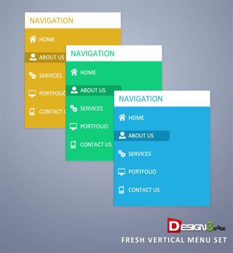 website layout vertical menu fresh vertical menu set design3edge com
