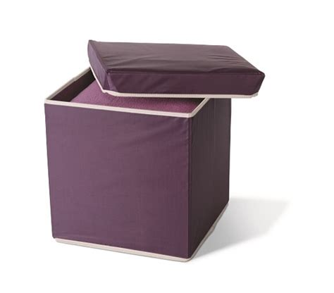 dorm room ottoman storage ottoman eggplant college products must have