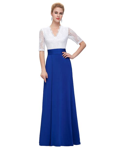 41316 V Neck Elegance Sml Dress korean dress evening summer dresses casual grace karin v neck lace split