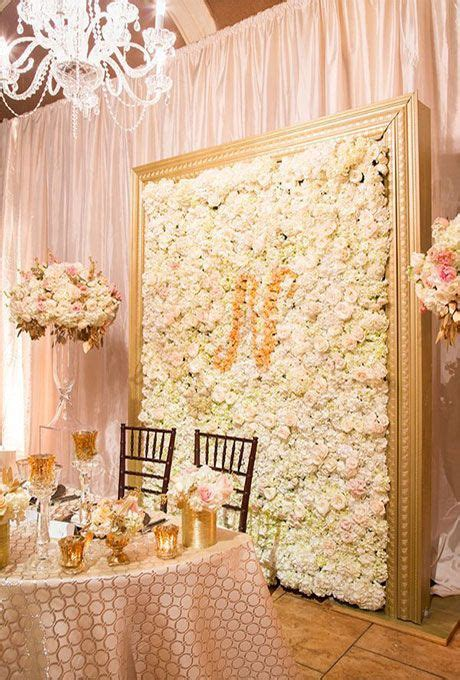 wedding flower wall ideas monograms floral and flower
