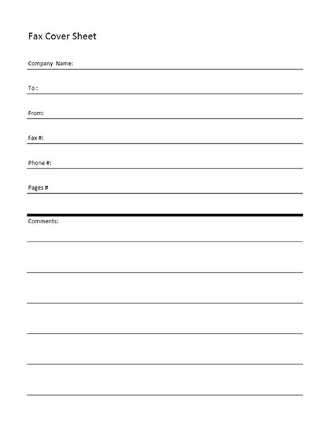free fax cover sheet template aiyin template source
