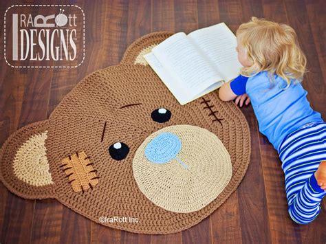 alfombra oso crochet alfombra oso trapillo y crochet pinterest osos