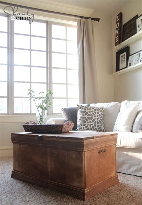 Pottery Barn Inspired Chest Coffee Table Shanty 2 Chic Trunk Coffee Table Diy