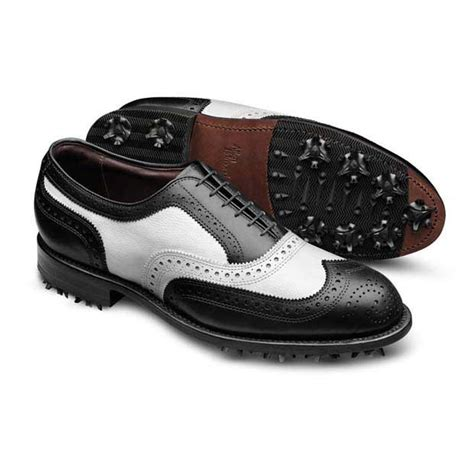 allen edmonds golf shoes medalist two tone wingtip mens golf shoes by allen