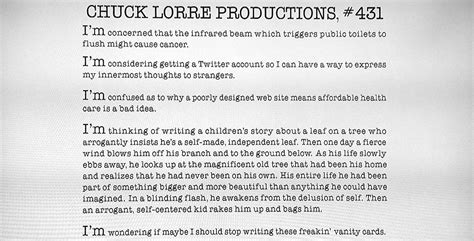 Chuck Lorre Big Vanity Cards by Chuck Lorre I M H O Medium