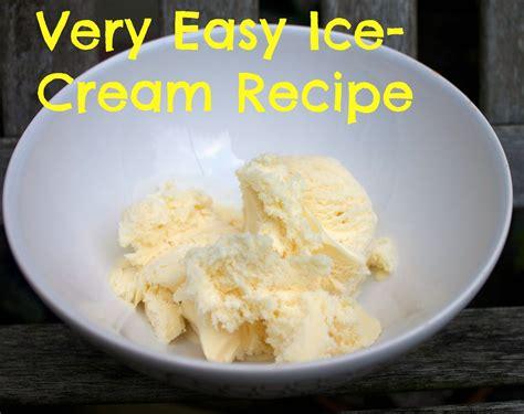 very easy ice cream recipe