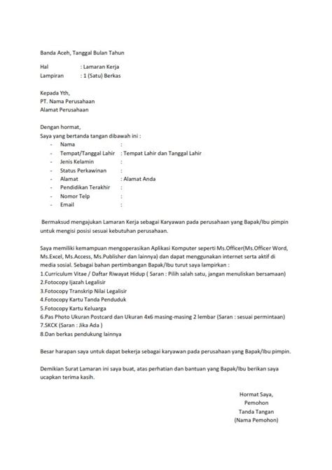 contoh surat lamaran kerja cafe surat lamaran kerja telkomsel ben jobs contoh lamaran