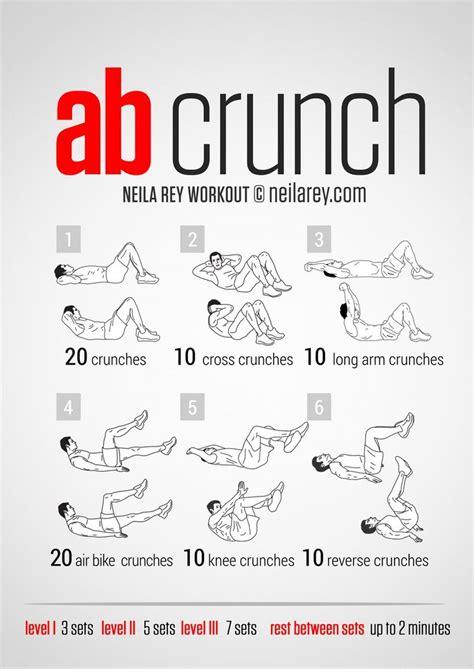 crunch workout  men  women health fitness board