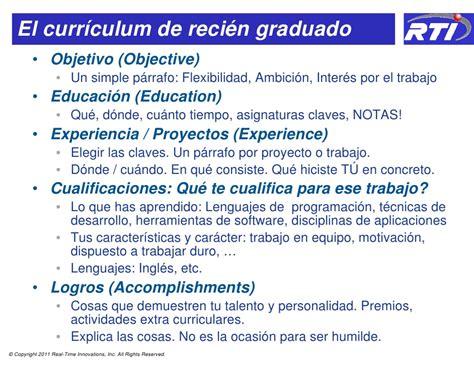 Plantilla De Curriculum Para Recien Egresados Como Escribir Curriculums Con Impacto En Empresas De Tecnologia