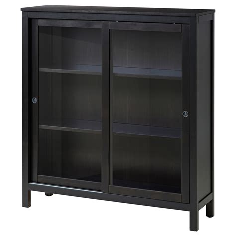 Black Storage Cabinet With Glass Doors Storage Cabinets Storage Cupboards Ikea Ireland